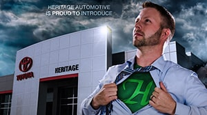 The H-Man Print Ad - Heritage Automotive